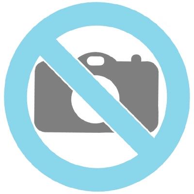 Keramikurne 'Herz' grau mit Magnetherz silber